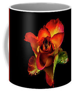 A Red Rose On Black Coffee Mug