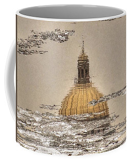 Coffee Mug featuring the pyrography A Reflection Of The History by Yury Bashkin