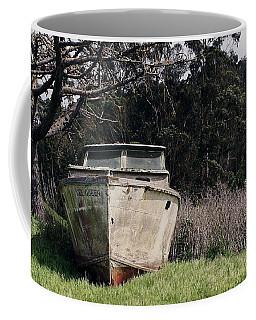 A Retired Old Fishing Boat On Dry Land In Bodega Bay Coffee Mug
