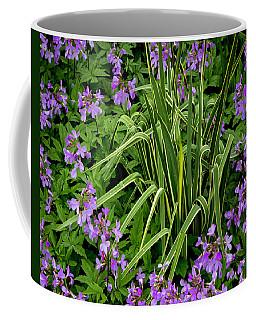 A Ring Of Purple Flowers Coffee Mug