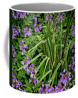 A Ring Of Purple Flowers Coffee Mug