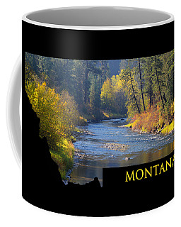 A River Runs Thru Autumn Coffee Mug