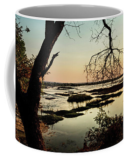 A River Sunset In Botswana Coffee Mug