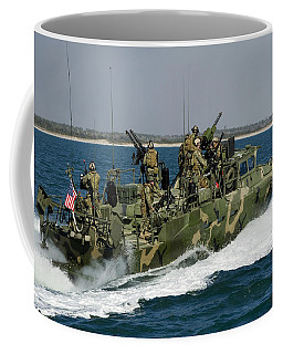 A Riverine Command Boat Conducts Coffee Mug