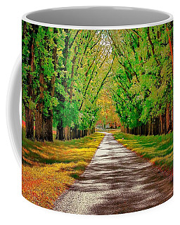 A Road Through Autumn Coffee Mug