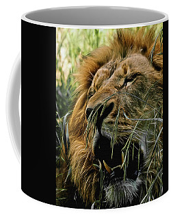 A Roar In The Grass Digital Art Coffee Mug by Ernie Echols