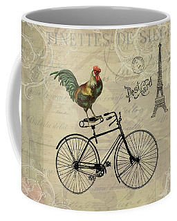 A Rooster In Paris Coffee Mug