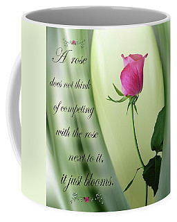 A Rose Coffee Mug by Nina Bradica