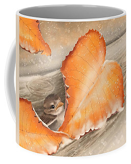 Coffee Mug featuring the painting A Safe Place by Veronica Minozzi
