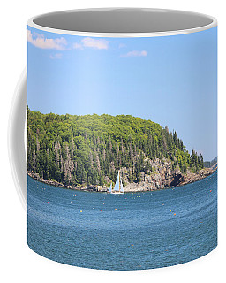 Coffee Mug featuring the photograph A Sailboat On Frenchman Bay by Living Color Photography Lorraine Lynch