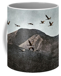 A Sedge Of Cranes Coffee Mug