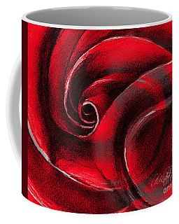 Coffee Mug featuring the painting A Shape In Rose by Allison Ashton