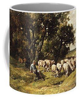 A Shepherd And His Flock Coffee Mug