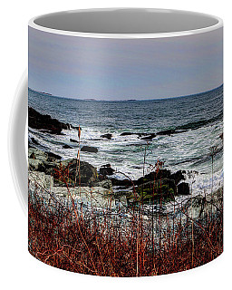 Coffee Mug featuring the photograph A Shoreline In New England by Tom Prendergast