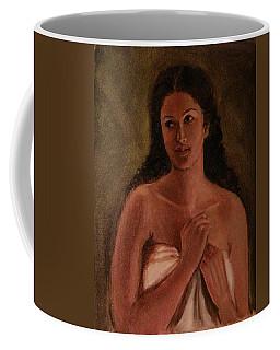 A Shy Woman Coffee Mug