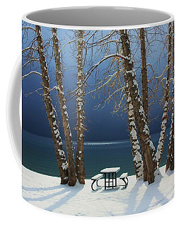 Coffee Mug featuring the photograph A Simple Winter Scene by Sean Sarsfield