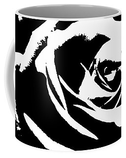 Coffee Mug featuring the photograph A Simply Black And White Rose  by Sandra Foster