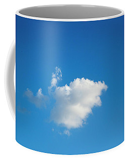 Coffee Mug featuring the photograph A Single Cloud by Eric Christopher Jackson
