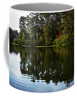 Coffee Mug featuring the photograph A Single Red Tree by Parker Cunningham