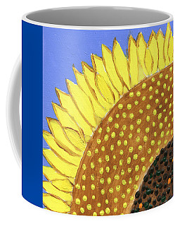 Coffee Mug featuring the painting A Slice Of Sunflower by Deborah Boyd