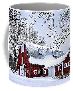 A Snowy Day At Grey Ledge Farm Coffee Mug