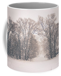Coffee Mug featuring the photograph A Snowy Monday by Viviana  Nadowski