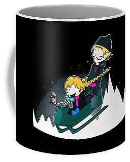 A Snowy Ride Coffee Mug