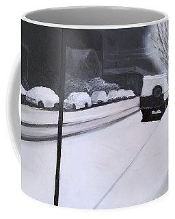 A Snowy Street In Portland Coffee Mug