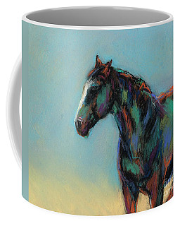 Coffee Mug featuring the pastel A Soft Breeze by Frances Marino