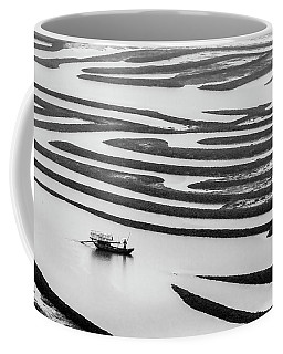 A Solitary Boatman. Coffee Mug