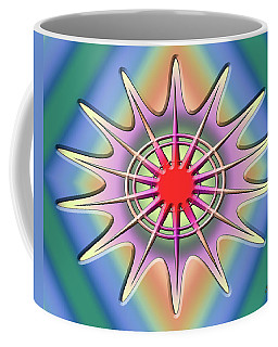 Coffee Mug featuring the digital art A Splash Of Color 2 by Chuck Staley