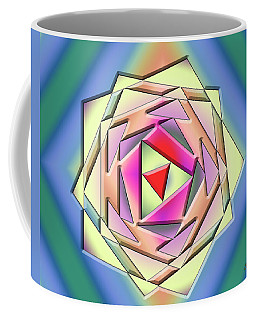 Coffee Mug featuring the digital art A Splash Of Color 3 by Chuck Staley
