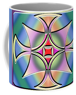 Coffee Mug featuring the digital art A Splash Of Color 4 by Chuck Staley