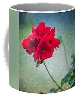 Coffee Mug featuring the photograph A Splash Of Red by Betty LaRue