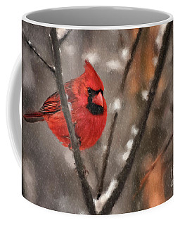 Coffee Mug featuring the digital art A Spot Of Color by Lois Bryan