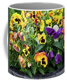 A Spread Of Pansies Coffee Mug