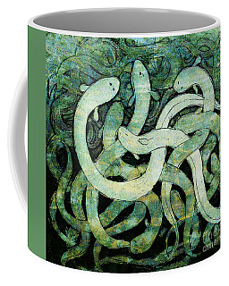 A Squirm Of Eels At The Bottom Of The Pond Coffee Mug by Nareeta Martin