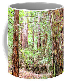 A Stand Of Redwood Trees. Coffee Mug