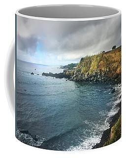 A Storm Brewing Over The Eastern Shoreline Cliffs Of Angra Do Heroismo Terceira Coffee Mug