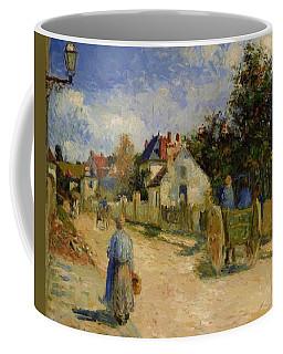 A Street In Pontoise 1879 Coffee Mug