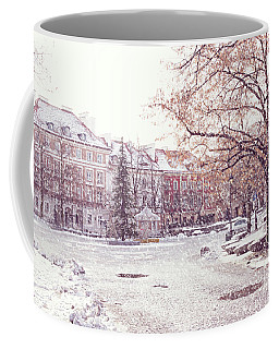 A Street In Warsaw, Poland On A Snowy Day Coffee Mug
