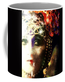 Coffee Mug featuring the digital art A String Of Pearls by Delight Worthyn