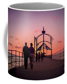 A Stroll Along Sunset Pier Coffee Mug