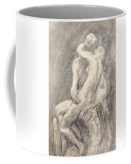 A Study Of Rodin's Kiss In His Studio Coffee Mug