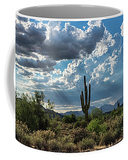 Coffee Mug featuring the photograph A Summer Day In The Sonoran  by Saija Lehtonen