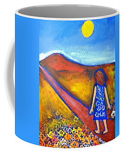 Coffee Mug featuring the painting A Sunny Path by Winsome Gunning