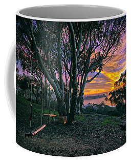 A Swinging Sunset From The Secret Swings Of La Jolla Coffee Mug