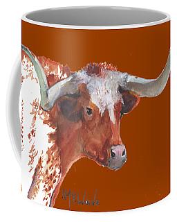 A Texas Longhorn Portrait Coffee Mug