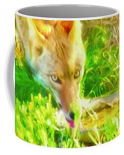 A Thirsty Coyote Coffee Mug