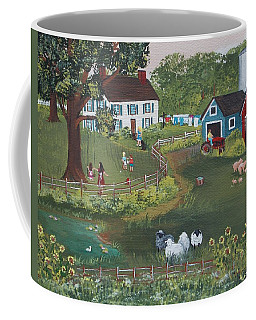 Coffee Mug featuring the painting A Time To Play by Virginia Coyle